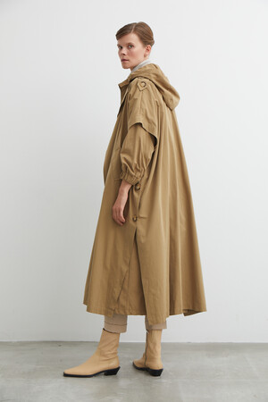 2-IN-1 CAPE TRENCH COAT - Thumbnail