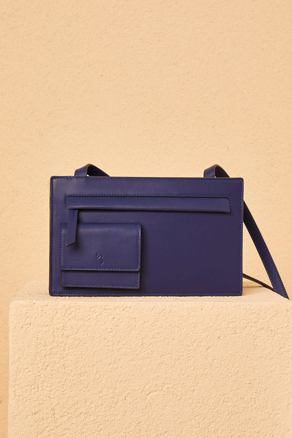 Kevser Sarıoğlu - BAG WITH POCKET NAVY BLUE