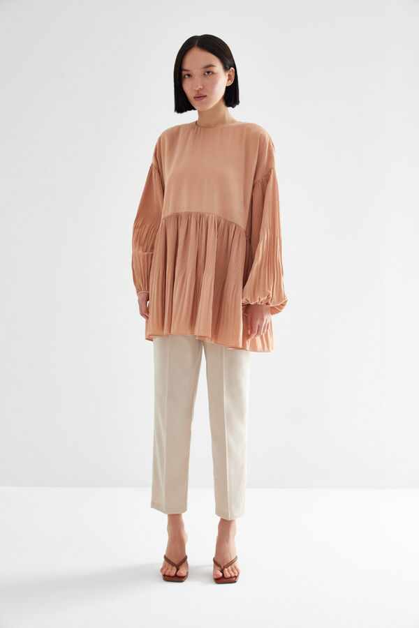 Kevser Sarıoğlu - BALLOON SLEEVE PLEATED TUNIC