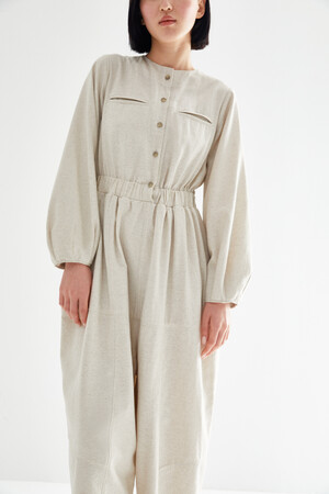 BUTTONED BOMBER OVERALL - Thumbnail