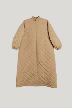 LONG QUILTED COAT - Thumbnail