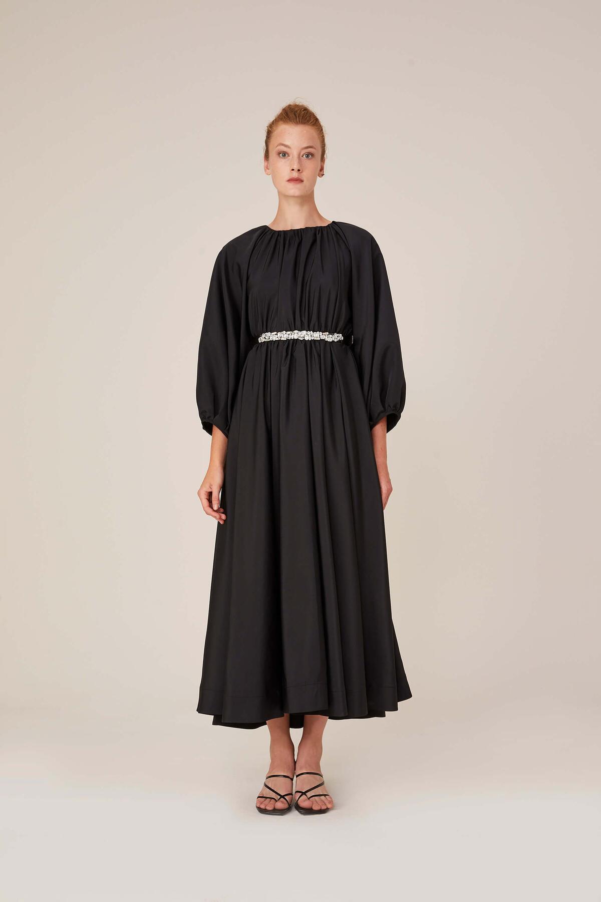 SHINY STONE BELT DRESS