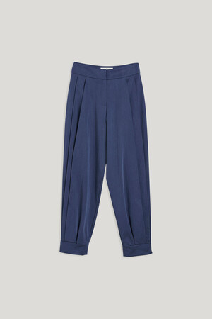 SIDE PLEATED TROUSERS - Thumbnail