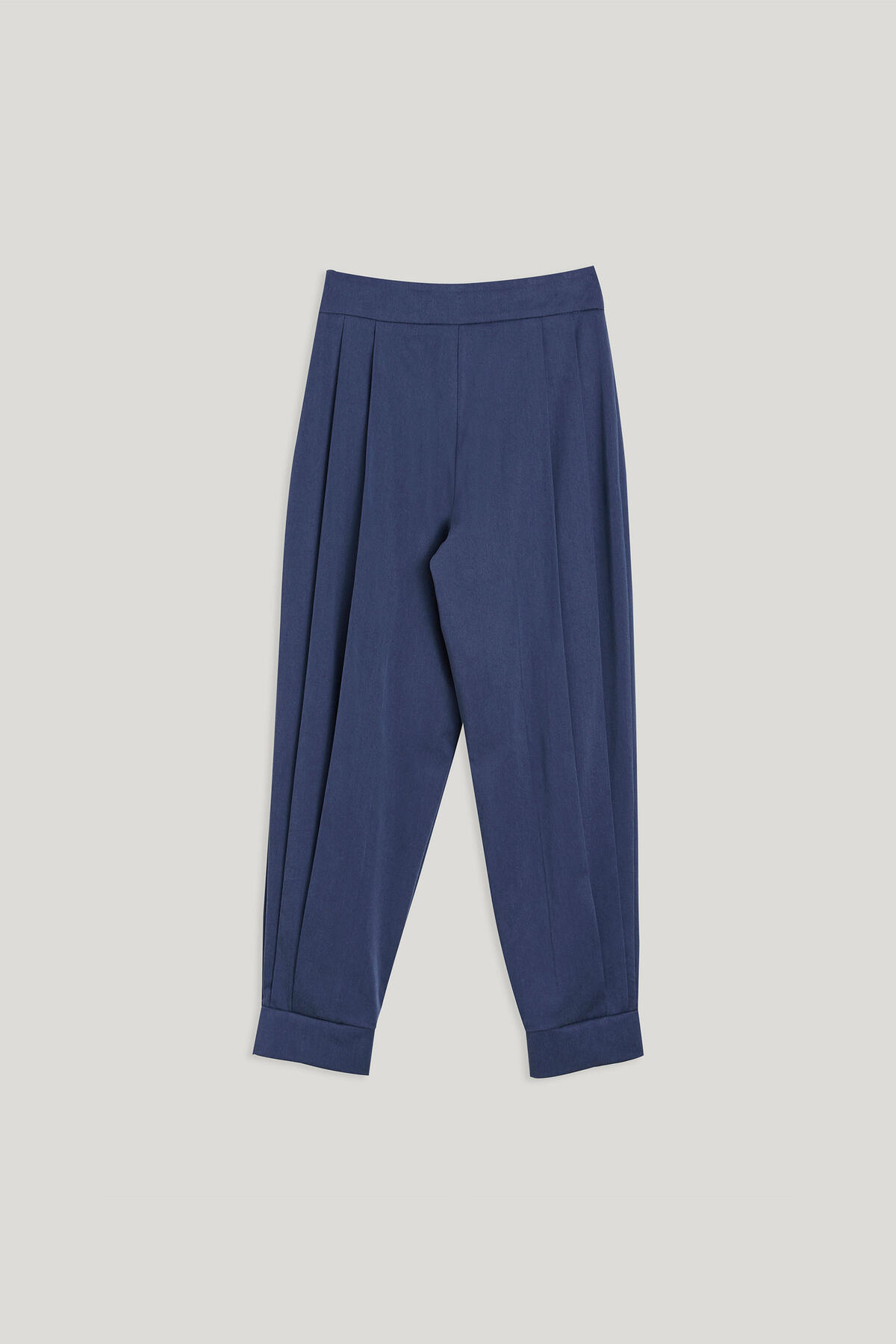 SIDE PLEATED TROUSERS