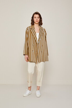 STRIPED CLASSIC JACKET - Thumbnail