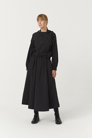 SUIT WITH WAISTED ELASTIC SKIRT - Thumbnail
