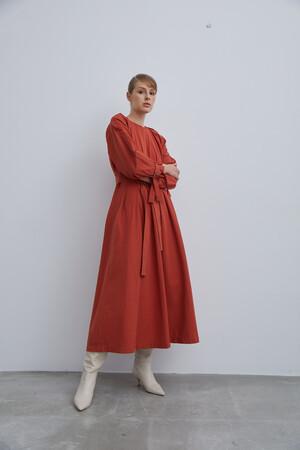 WAISTED FOLDING DRESS - Thumbnail