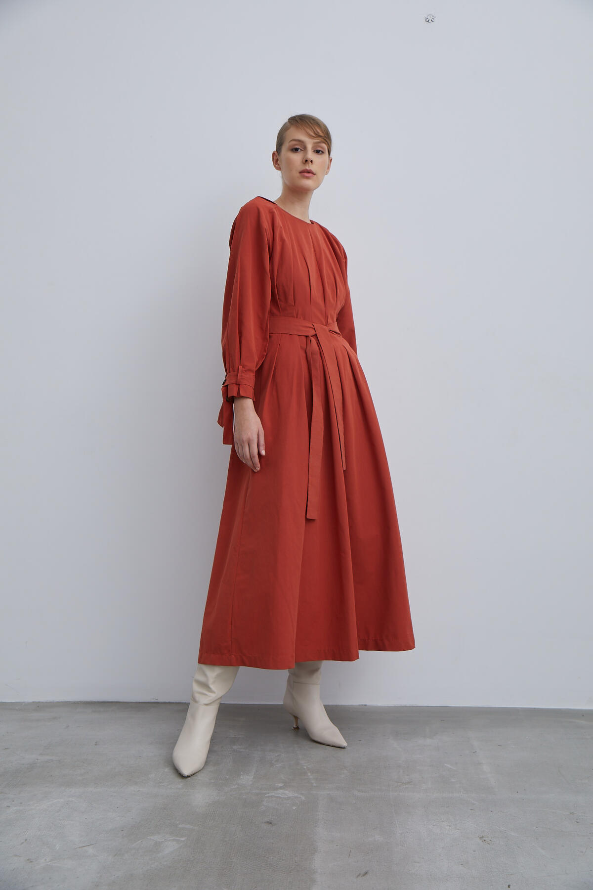 Kevser Sarıoğlu - WAISTED FOLDING DRESS
